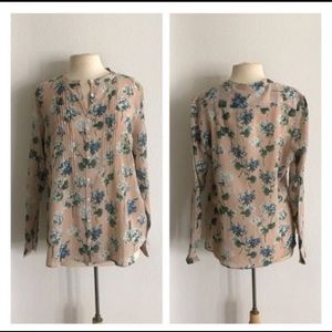 NWT Boden Floral Button Down Blouse
